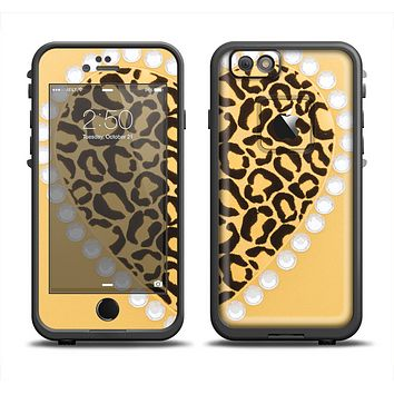 The Yellow Heart Shaped Leopard Apple iPhone 6/6s LifeProof Fre Case Skin Set
