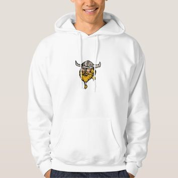 Viking Warrior Head Retro Hoodie