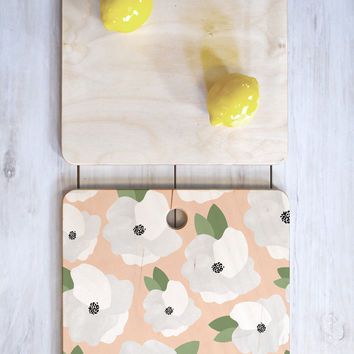 Allyson Johnson Romantic Floral Cutting Board Square