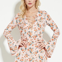 Floral Print Lace-Up Dress | Forever 21 - 2000186349