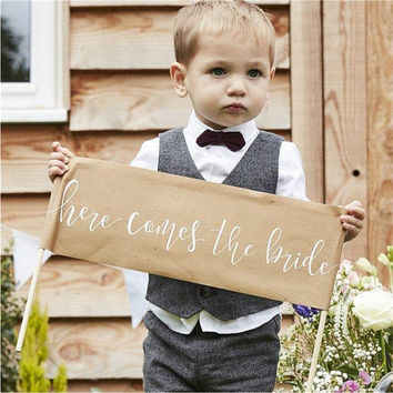 Rustic Country 'Here Comes The Bride' Sign -Wedding Day - Wedding day sign - Daddy here comes your bride