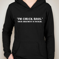 "Gossip Girl ""I'm Chuck Bass. Your Argument is Invalid."" Unisex Adult Hoodie Sweatshirt"
