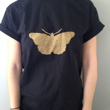 Black Harry Styles Butterfly Tattoo Shirt