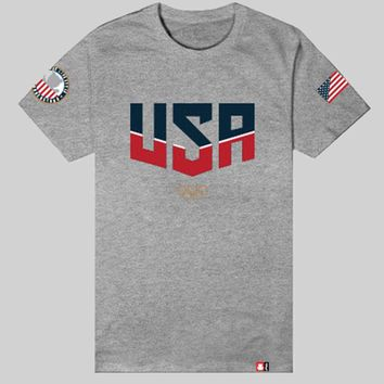 Entree LS Olympic USA Gray Tee - Just Restocked!