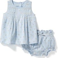 2-Piece Pintuck Top and Bloomer Set for Baby | Old Navy