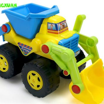 Kids Cute Cartoon Inertia Sand Dump Truck Toy Plastic 20*13*11cm Water and Sand Play Outdoor Fun Children Gift