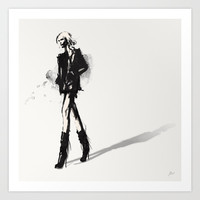 Fringe - Fashion Illustration Art Print by Allison Reich