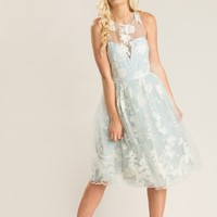 Rory Dusty Blue Lace Dress