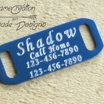 Personalized Dog Tags for Collars, Slide On Dog Tag, Dog Tag, Slide On Id Tag, Personalized Dog Tag for Dog, Slide On Cat Tag