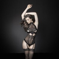 DCCKL0W Lace and Satin Lingerie Teddy