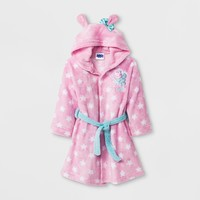 Toddler Girls' Peppa Pig Long Sleeve Hooded Robe - Pink