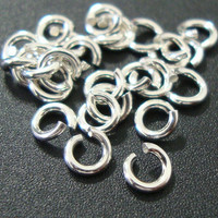 925 Sterling Silver Open Jump Ring, 50 pcs, 4mm, 20 gauge, Strong Sturdy, open ready for use