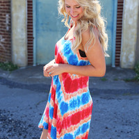 Tie Dye Wave Dress