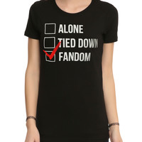 Alone Tied Down Fandom Girls T-Shirt