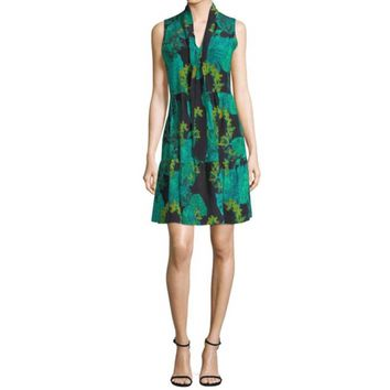 Kobi Halperin Rosie Leaf Printed Dress