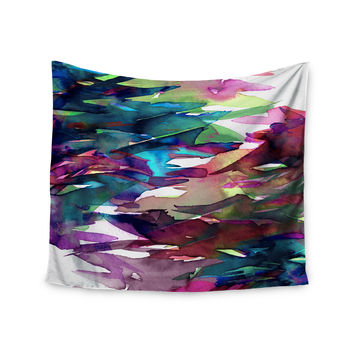 "Ebi Emporium ""Fervor 4"" Magenta Abstract Wall Tapestry"