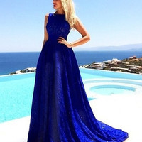 2015 Summer Women Sleeveless Party Dresses Club Maxi Dresses = 1946093764