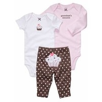 Carter`s 3-pc. Cupcake Bodysuit Set
