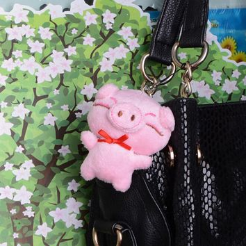 Lovely Cute Cartoon Little Doll Plush Piggy Small Pendant Decor For Bag Parts Accessories Cell phone Charm Decoration