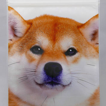 Shiba Inu Re-Zip Reusable Storage Bag  (Pack of 5)