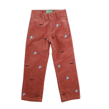 Boys Beachcomber Corduroy Pant Nantucket Red With Ghost & Bat