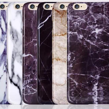 Marble Stone Grain Iphone 7 7Plus Iphone se 5s 6s 6 Plus Cases Cover + Gift Box-517