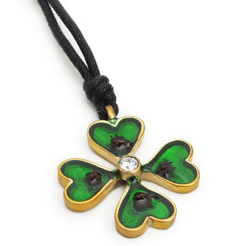 4 Leaf Clover Irish Handmade Brass Necklace Pendant Jewelry