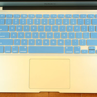 "Light Blue Macbook Silicone Keyboard Cover Protector - Fits ALL UNITED STATES Macooks Pro Air 11"",13"",15"",17"""