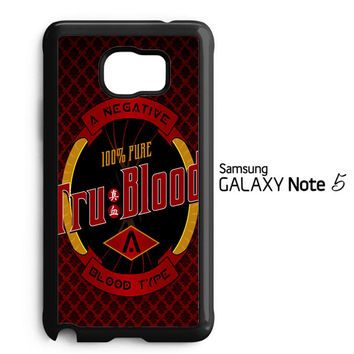 Tru Blood logo Z0766 Samsung Galaxy Note 5 Case