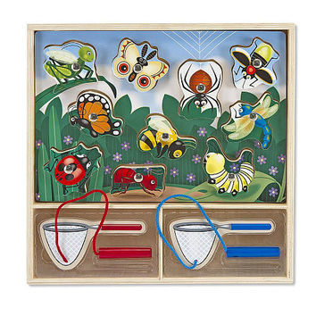 Melissa & Doug Magnetic Puzzle Game - Bug Catching