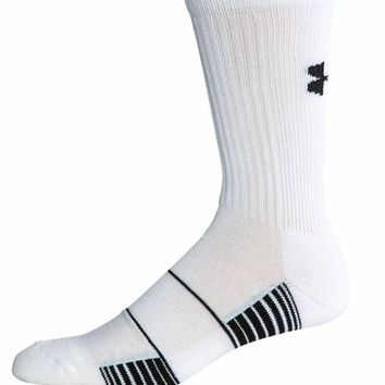 Under Armour White Team Crew Socks