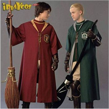 ac DCCKO2Q New Adult Robe Cloak Gryffindor Slytherin Quidditch Cosplay Costume for Harri Potter Cosplay