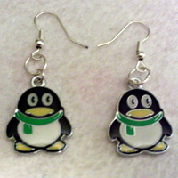 Holiday Penguin Earings