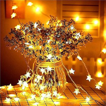 New Year 3M 6M 10M LED Star String Lights Fairy Garland Waterproof For Christmas Wedding Home Decoration Battery Powered
