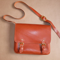 asymmetric hand-stitching leahter messenger bags | laptop bags