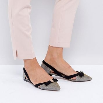 Miss KG Nica Cut Out Pointed Flat Shoes at asos.com