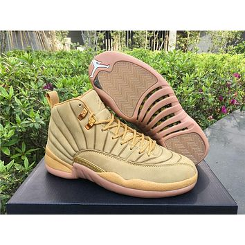 Air Jordan Retro 12 ¡°Wheat¡±Discount AJ12 PSNY x Cheap Sale JD 12 Men Sports Basketball