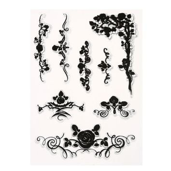 1 sheet DIY Floral Transparent Clear Rubber Stamp Seal Paper Craft Scrapbooking Decoration 9 Style Available