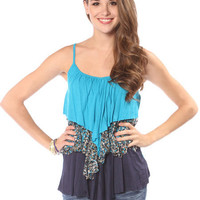 Papaya Clothing Online :: CONTRAST TIERED RUFFLE TOP