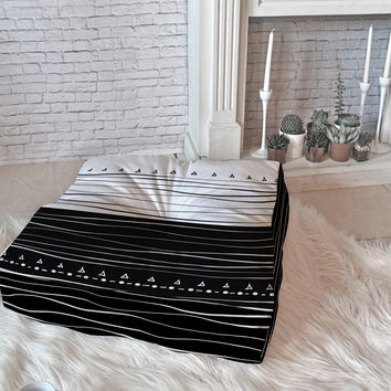 Viviana Gonzalez Black and white collection 01 Floor Pillow Square