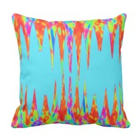Rainbow Stalactite And Stalagmite Magic Mountains Cushion