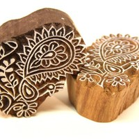 Peacock Indian Wooden Block Design for Crafting , Paper, Cards,Textile