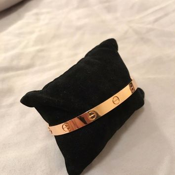 One-nice? Cartier Love Bracelet Rose Gold Size 18
