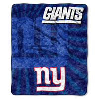 NY Giants  50x60 Sherpa Throw - Strobe Series