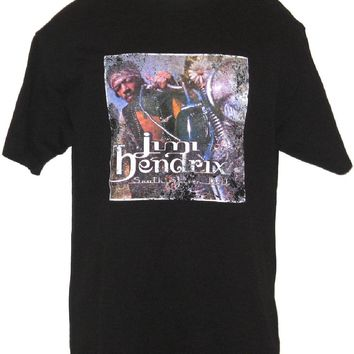 Jimi Hendrix T-shirt - South Saturn Delta Album Cover. Men's Black Vintage Shirt