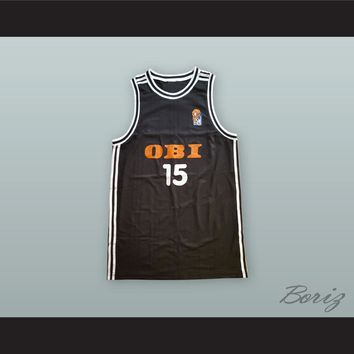 Dirk Nowitzki 15 Germany National Team Black Basketball Jersey