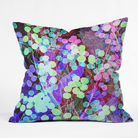 Nick Nelson Dots And Leaves Outdoor Throw Pillow