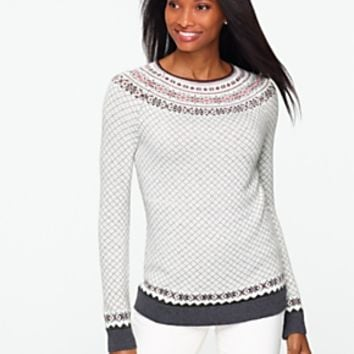 Talbots - Holly Yuletide Sweater