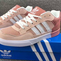 """""""ADIDAS"""" Trending Fashion Casual Sports Shoes Pink white line"""