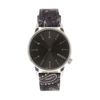 Komono - Winston Print Black Paisley Watch